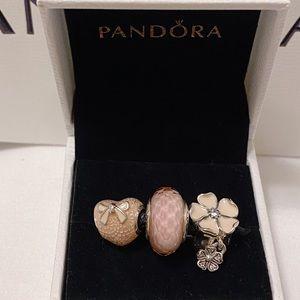 Pandora set of three authentic charms